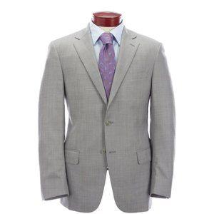 Hart Schaffner Marx Grey Sharkskin Blazer Size 48R